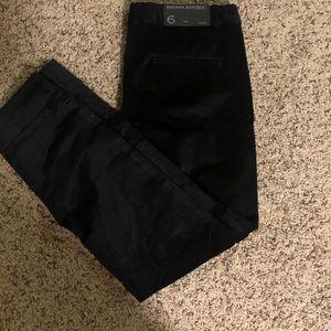 Banana Republic Black Velvet Skinny Pants